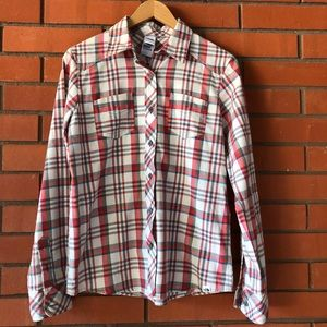 THE NORTH FACE  Long Sleeve Button Down Plaid Top